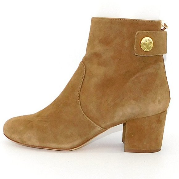 """Nine West """"Quarryn"""" Natural Suede Ankle Boot"""